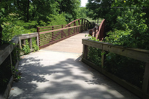 bridge over Richland Creek at about mile 1.20
