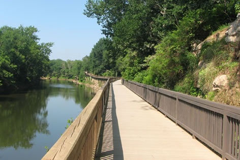 Raised Walkway along the river
