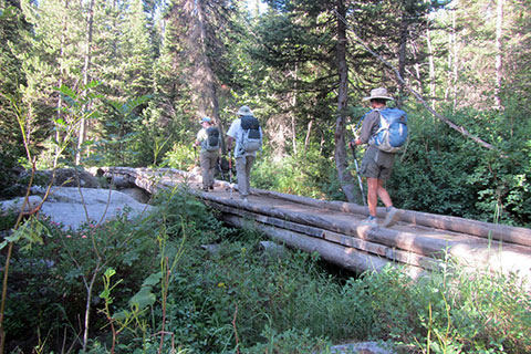 bridge crossing Glacier Creek