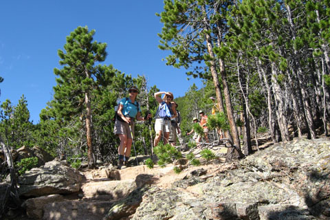 hikers on Storm Pass Trail
