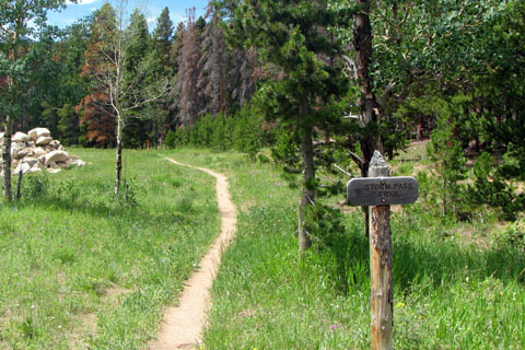 trail after it brancches from the old road