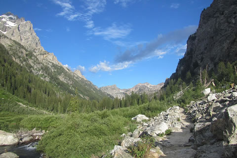 View to the west in Cascade Canyon