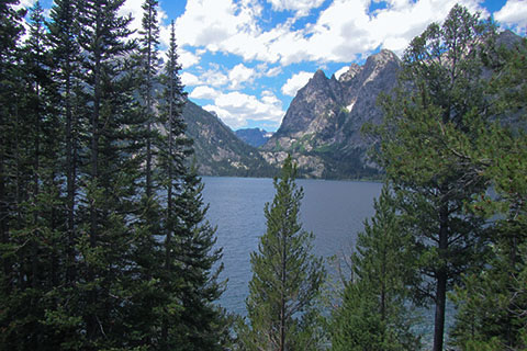 View of Cascade Canyon from Jenny Lake Overlook