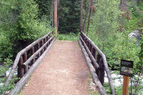 Connector Trail bridge across Lake Creek