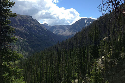 View of the Hallet Creek drainage from the Lake Nanita Trail