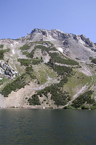 Mount Woodring from Holly Lake