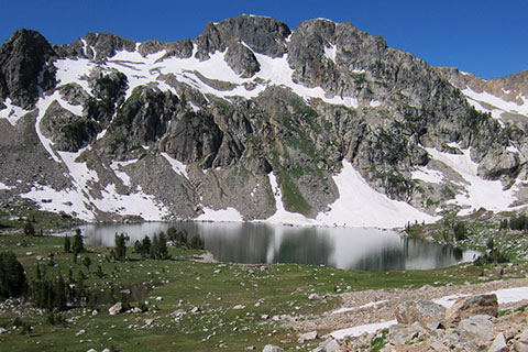 Lake solitude in the Upper Canyon