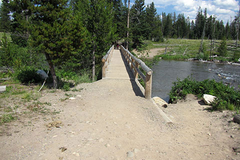 bridge over the String Lake Outlet