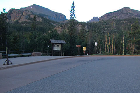 Glacier Gorge Trailhead from the parking area