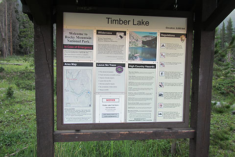 Timber Lake Trail Kiosk