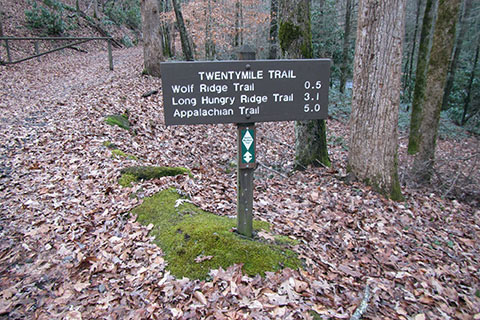 Trailhead distance sign