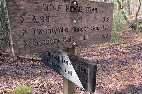 Twentymile Loop Trail sign