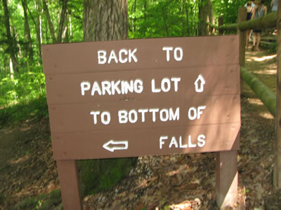 directional sign near teh big overlook