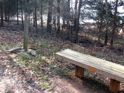 hlaf mile and bench