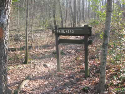 to Trailhead sign