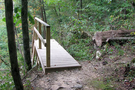 Stairs down on optional trail 3