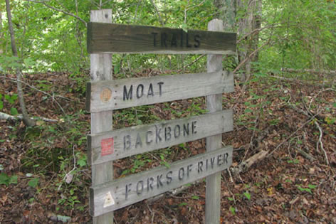 Alternate trails sign