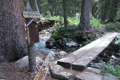 Ptarmigan Creek footbridge
